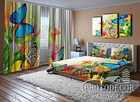 """Фото Комплект для спальні """"Тюльпани і метелики"""""""