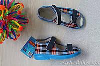 Босоножки для мальчика клетка детская текстильная обувь Zetpol Зетпол р.20,21