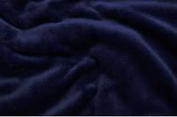 Махра однотонная (велсофт) тём.-тёмно синяя ширина 150 см.
