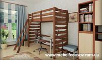 Кровать чердак Троя 2 90 (Мебигранд/Mebigrand) 1020х2000(2100)х1900мм , фото 1