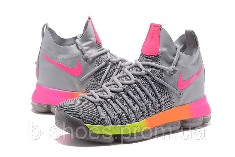 5d6676a5 Мужские баскетбольные кроссовки Nike KD 9 Elite (Grey/Pink-Orange-Volt)