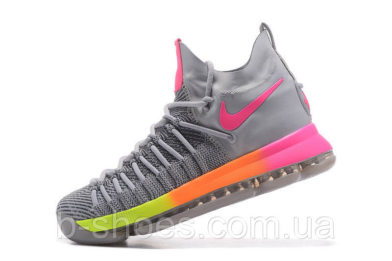 6ba17922 Мужские баскетбольные кроссовки Nike KD 9 Elite (Grey/Pink-Orange-Volt),  цена 1 900 грн., купить в Киеве — Prom.ua (ID#540272024)