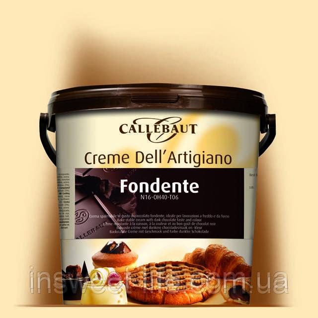 Крем кондитерський шоколадно-горіховий Crème dell Artigiano Fondente 10кг/відро