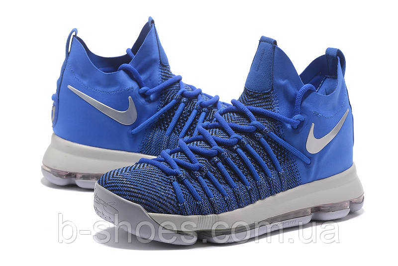 Мужские баскетбольные кроссовки Nike KD 9 Elite (Game Royal/Silver)