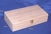 Шкатулка для карт 25.5х19.5х6 см дерево заготовка для декора
