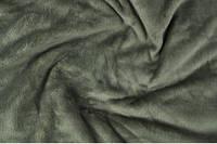 Махра однотонная (велсофт) серая, ширина 150 см. Купить в Украине оптом.