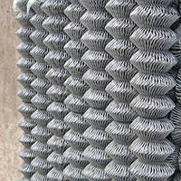 Сетка рабица оцинкованная 60х60х3(4х10), фото 1
