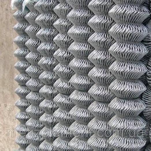 Сетка рабица оцинкованная 75х75х2,5(1,5х10)