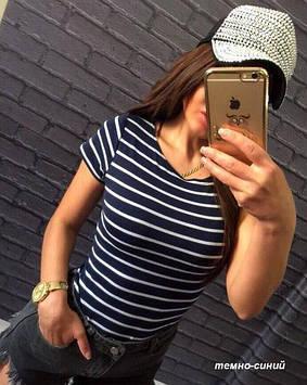Жіноча футболка у смужку 88525