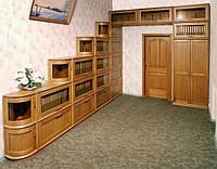 Мебель для кабинетов, библиотек с натурального дерева