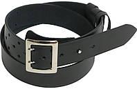 Мужской кожаный ремень под джинсы OFICERSKI 7925-93 черный ДхШ: 128х4,5 см.