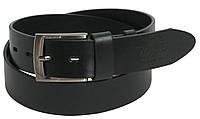 Мужской кожаный джинсовый ремень ALWAYS WILD AW-1720 черный ДхШ:117-131х4 см.