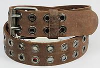 Мужской кожаный ремень с заклепками, под джинсы, Tom Tailor, Германия, 100120 коричневый, 4,5х113 см