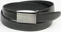 Классический мужской кожаный ремень под брюки, Vanzetti, Германия, 100107 черный, 3х119 см