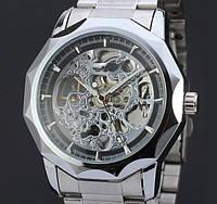 Механические часы с автоподзаводом Winner (silver)