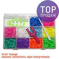 Набор для плетения Rainbow Loom Bands, 1200 резиночек в пластиковом боксе / Резинки для плетения браслетов