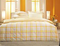 Двуспальное евро постельное белье TAC Vertigo Yellow Перкаль