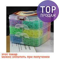 Резинки для плетения браслетов в пластиковом кейсе, 12000 шт. / Резинки для плетения браслетов
