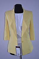 Пиджак желтый, удлиненный