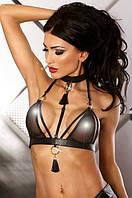 Соблазнительный бюстгальтер с кожаной отделкой Luxury bra Lolitta