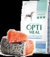 Optimeal гипоаллергенный сухой корм для собак крупных пород с лососем 12 кг