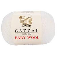 Пряжа Gazzal Baby Wool Белый