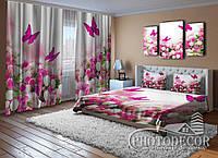 """Фото Комплект для спальни """"Цветы и бабочки"""""""