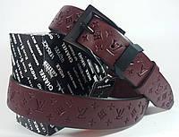 Женский кожаный ремень LOUIS VUITTON 120 см. - 3,5 см.