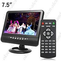 Портативный телевизор TV NS-701 7,5 дюймов, компактный автомобильный телевизор, портативный телевизор в машину
