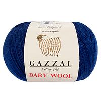 Пряжа Gazzal Baby Wool Темно-синий