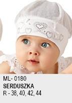 Прелестная летняя шапочка  с сердечками для девочки