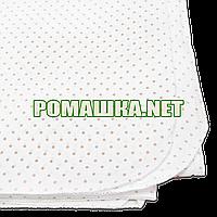 Белая в горошек детская ситцевая пеленка 110х90 см для пеленания новорожденного тонкая 3115-23 Бежевый