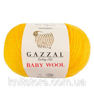 Пряжа Gazzal Baby Wool Жёлтый