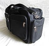 Мужская сумка через плечо дорожная много карманов портфель А4+ в2760 черная  38x24x16см, фото 3