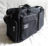 Мужская сумка через плечо дорожная много карманов портфель А4+ в2760 черная  38x24x16см, фото 4