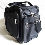 Мужская сумка через плечо дорожная много карманов портфель А4+ в2760 черная  38x24x16см, фото 5