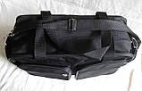 Мужская сумка через плечо дорожная много карманов портфель А4+ в2760 черная  38x24x16см, фото 6