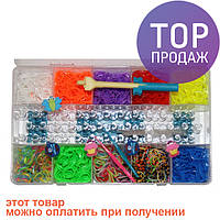 Набор для плетения Rainbow Loom Bands, 2200 резиночек / Резинки для плетения браслетов