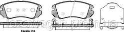 Колодки тормозные передние REMSA  0953.22