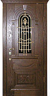 Двери входные под заказ СТАНДАРТ стеклопакет+ковка