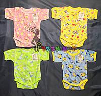 Бодик для новорожденных 100% хлопок (кулир) 56, 62 р-р, на выбор, фото 1