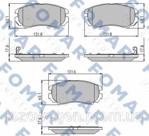Колодки тормозные передние FOMAR 932381