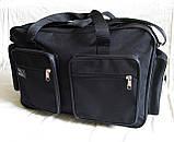 Мужская сумка через плечо дорожная очень крепкая и вместительная А4+ в2691 черная 42x28x19см, фото 2