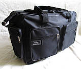 Мужская сумка через плечо дорожная очень крепкая и вместительная А4+ в2691 черная 42x28x19см, фото 4
