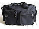Мужская сумка через плечо дорожная очень крепкая и вместительная А4+ в2691 черная 42x28x19см, фото 5
