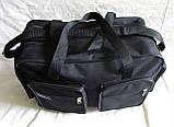 Мужская сумка через плечо дорожная очень крепкая и вместительная А4+ в2691 черная 42x28x19см, фото 6