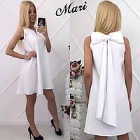 Красивое летнее коктейльное платье, белое