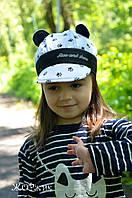 Хлопковая кепочка для мальчика и девочки с ушками