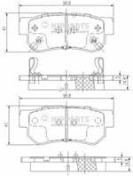 Колодки тормозные задние NIPPARTS J3610509