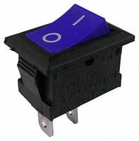 Выключатель KCD101 PRK-0001A клавишный мини синий